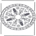 Mandala - Coloring sheets mandala spring