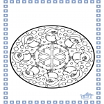 Pricking cards - Coloring sheets Winter