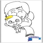 Temaer - Coloringpage baby 2