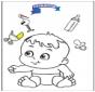 Coloringpage baby 3