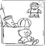 Småbarn - Coloringpage toys 1