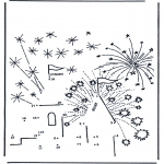 Kreativitet - Connect the Dots - firework