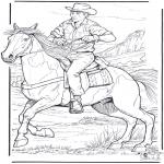 Dyr - Cowboy and horse