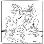 Dyr - Cowboy on horse