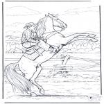 Litt av hvert - Cowboy te paard