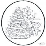 Pricking cards - Decorate chrismastree
