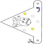 Kreativitet - Decoration flag Primalac