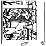 Bibelsk - Diorama David and Saul 1