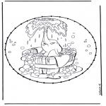 Broderkort - Dombo stitchingcard