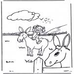 Litt av hvert - Donkey with girl