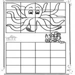 Kreativitet - Drawing octopus