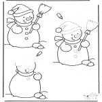 Vinter - Drawing snowman