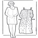 Kreativitet - Dress up doll grandma