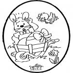Temaer - Easter bunnies - Pricking card 1