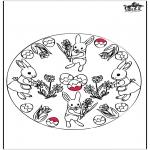 Temaer - Easter bunnies - Pricking card 3