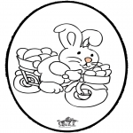 Temaer - Easter Bunny - Pricking card 2