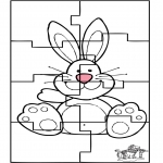Temaer - Easter bunny puzzle 3