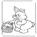 Temaer - Easter bunny with eggs 2
