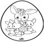 Easter egg - Pricking card 1