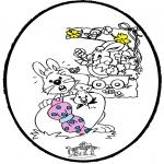Temaer - Easter - Pricking card 1
