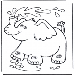 Småbarn - Elephant with water