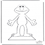 Kreativitet - Elmo paper doll