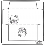 Kreativitet - Envelope Hello Kitty