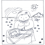 Temaer - Free coloring pages baby