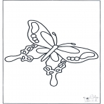 Dyr - Free coloring pages butterfly