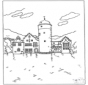 Free coloring pages castle