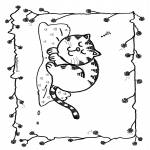 Dyr - Free coloring pages cat