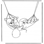 Tegneseriefigurer - Free coloring pages Diddl