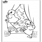 Temaer - Free coloring pages easter chicken 2