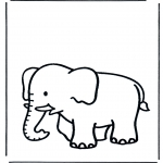 Småbarn - Free coloring pages elephant