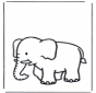 Free coloring pages elephant