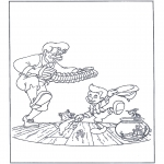 Litt av hvert - Free coloring pages fairy tale