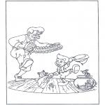 Litt av hvert - Free coloring pages fairy tale