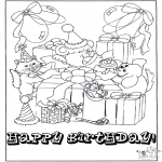 Temaer - Free coloring pages Happy Birthday