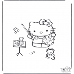 Litt av hvert - Free coloring pages Hello Kitty