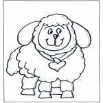 Dyr - Free coloring pages little sheep