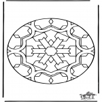 Mandala - Free coloring pages mandala insect
