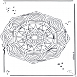 Mandala - Free coloring pages mandala star