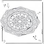 Mandala - Free coloring pages mandala star