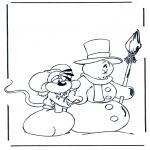 Vinter - Free coloring pages mandala winter