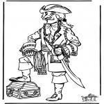 Litt av hvert - Free coloring pages pirate