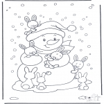 Vinter - Free coloring pages rabbit