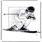 Litt av hvert - Free coloring pages skiing