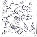 Vinter - Free coloring pages snow