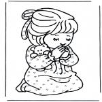 Bibelsk - Girl prays