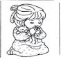 Girl prays
